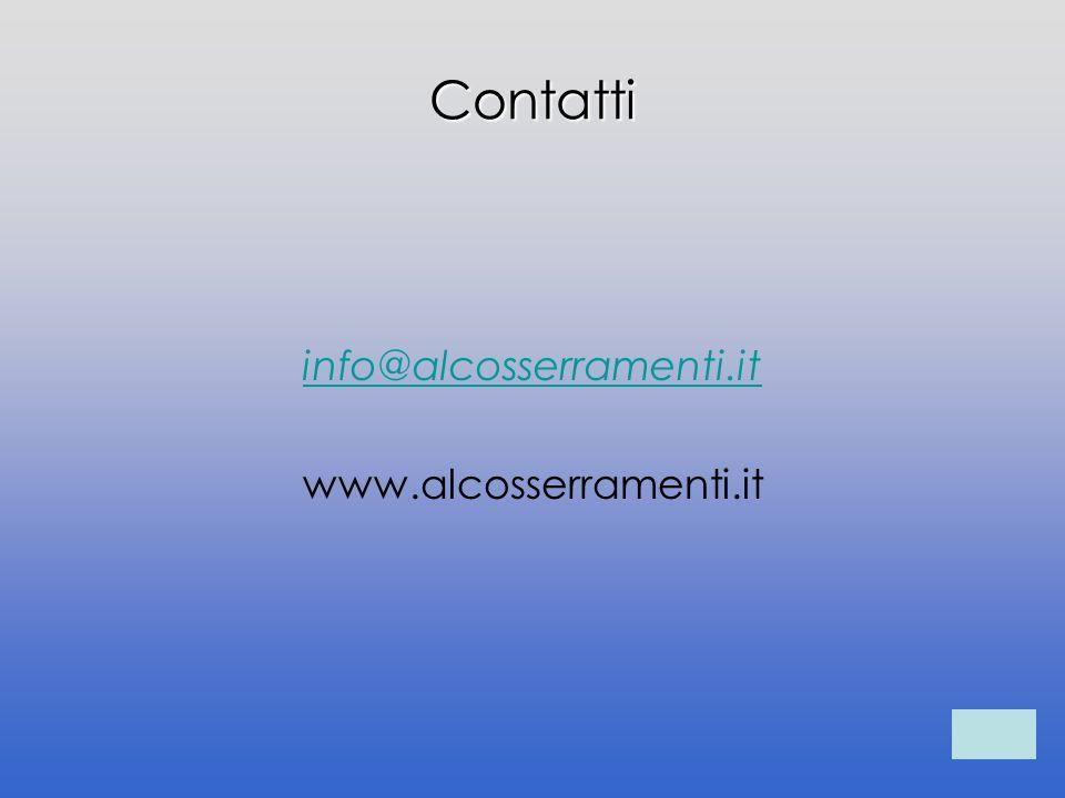 Contatti info@alcosserramenti.it www.alcosserramenti.it