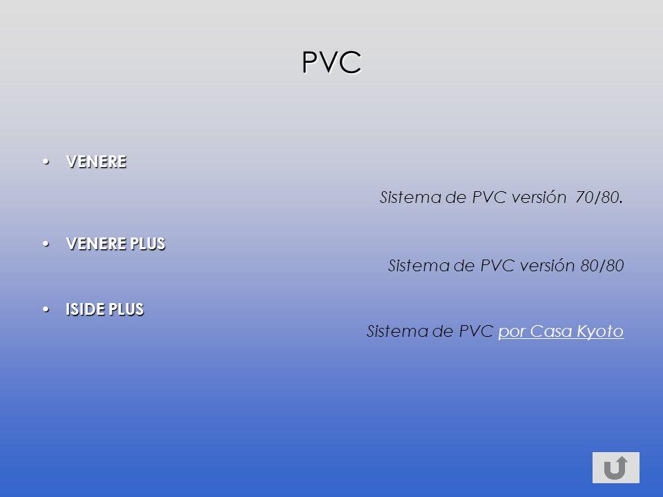 VENERE VENERE Sistema de PVC versión 70/80.