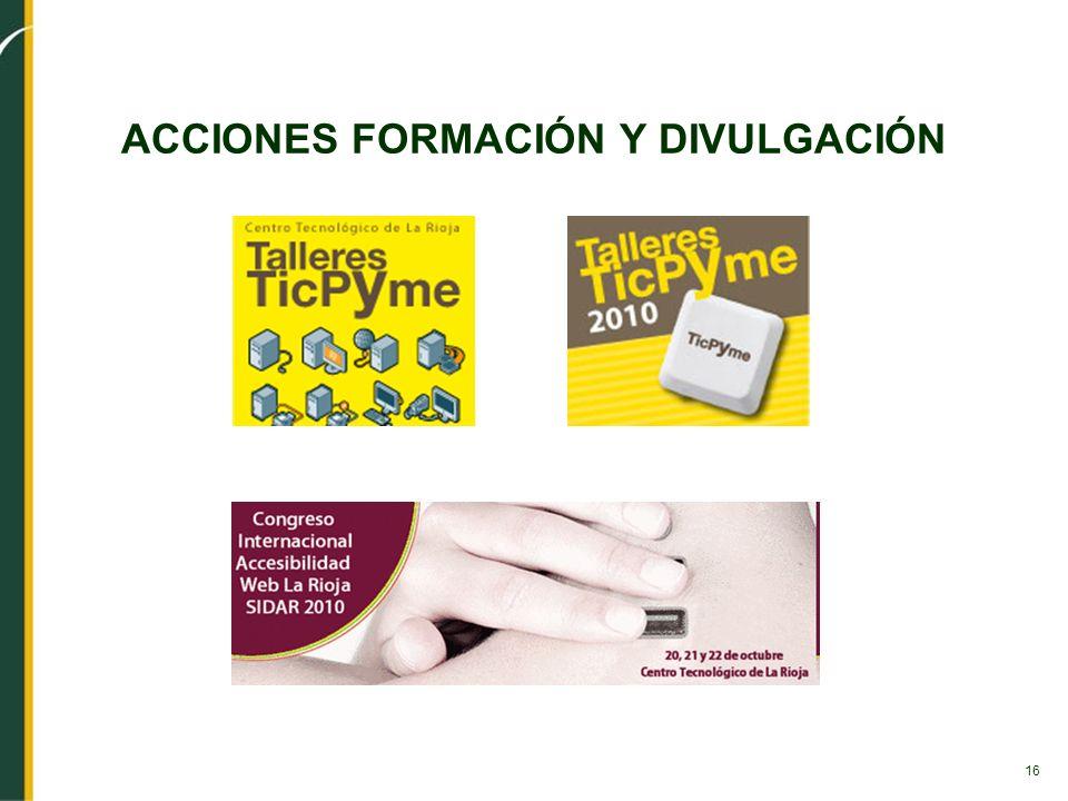 16 ACCIONES FORMACIÓN Y DIVULGACIÓN