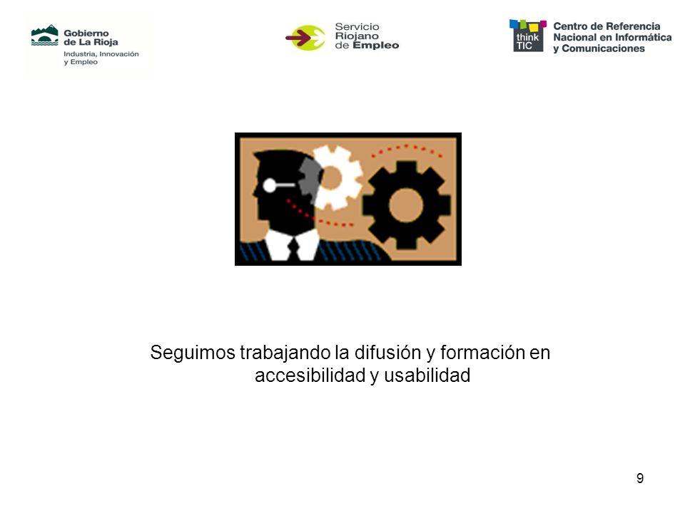 9 Seguimos trabajando la difusión y formación en accesibilidad y usabilidad