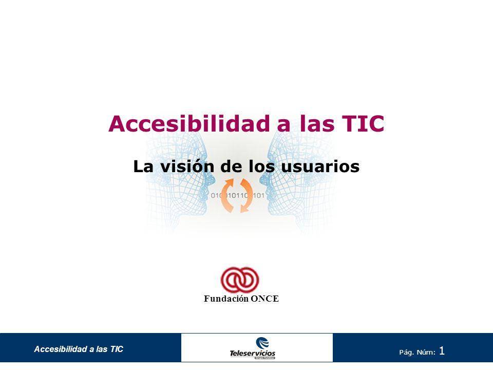 Accesibilidad a las TIC Pág.Núm: 2 Accesibilidad a las TIC.