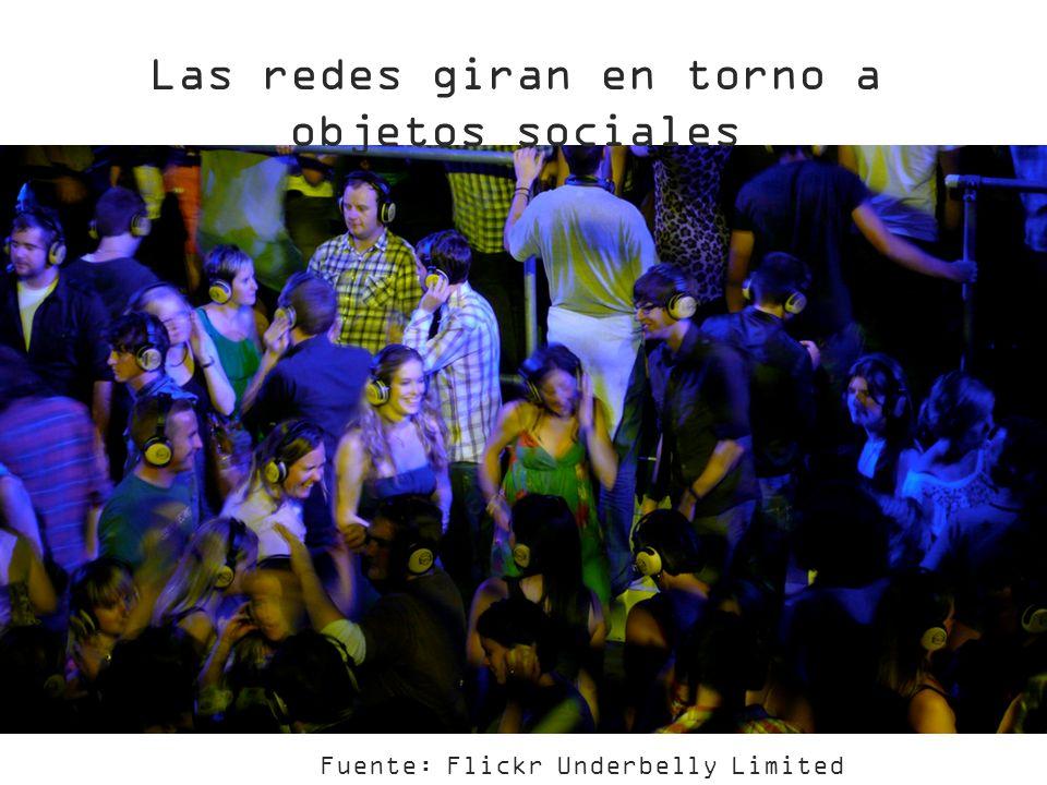 Fuente: Flickr Underbelly Limited Las redes giran en torno a objetos sociales