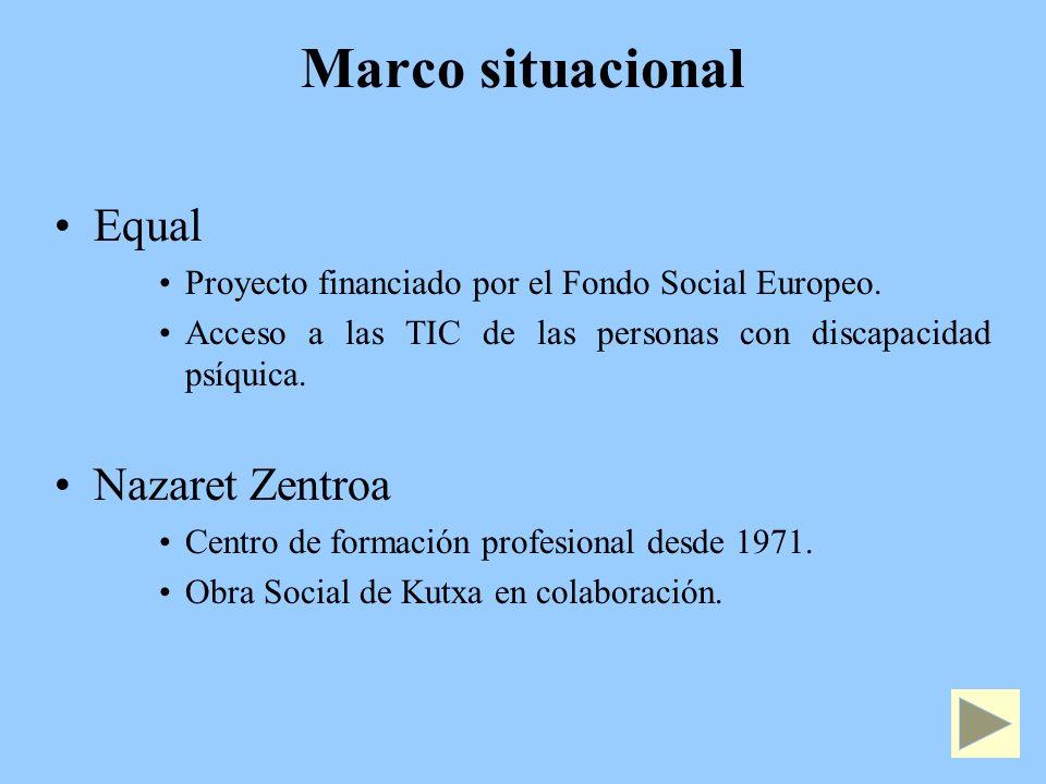 Marco situacional Equal Proyecto financiado por el Fondo Social Europeo.
