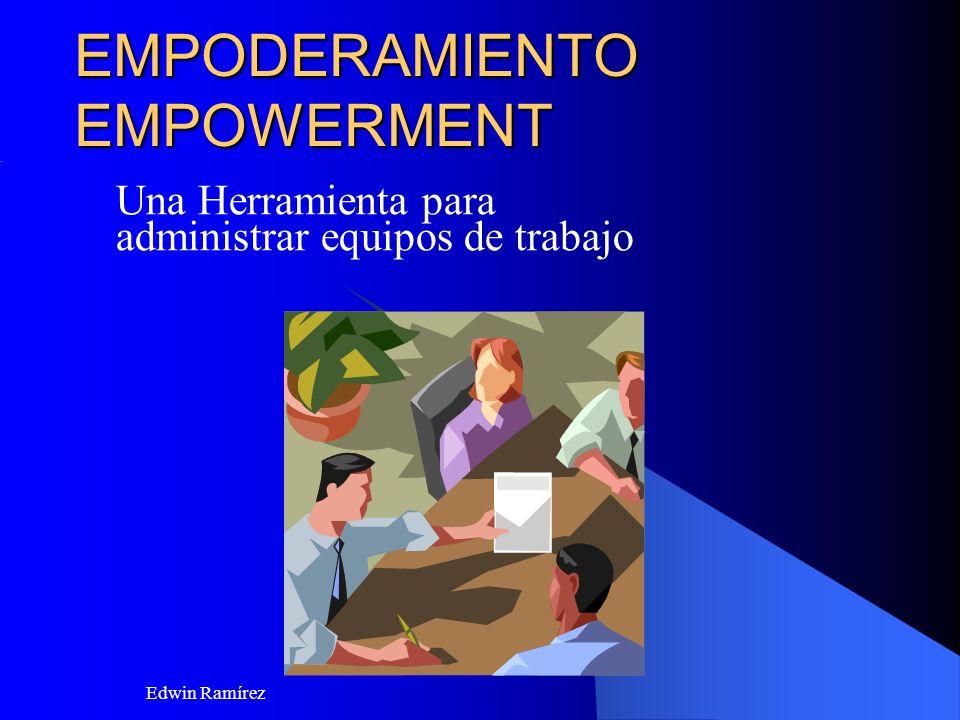 Edwin Ramírez AGENDA Que es empoderar o facultar los requisitos críticos de una organización que faculta o da poder Los tres pasos para facultar Consideraciones finales del tema