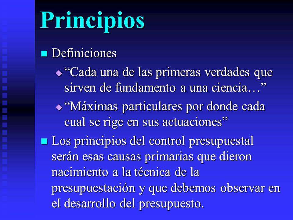 Principios Definiciones Definiciones Cada una de las primeras verdades que sirven de fundamento a una ciencia… Cada una de las primeras verdades que s