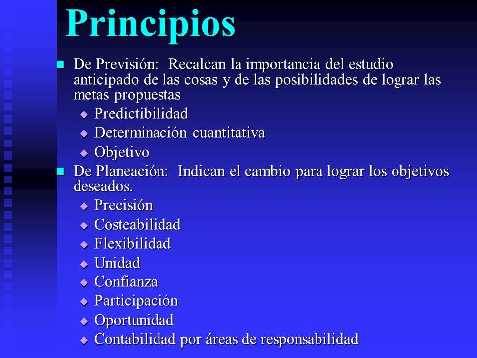 Principios De Organización: Denotan la importancia de la definición de las actividades humanas para alcanzar las metas.