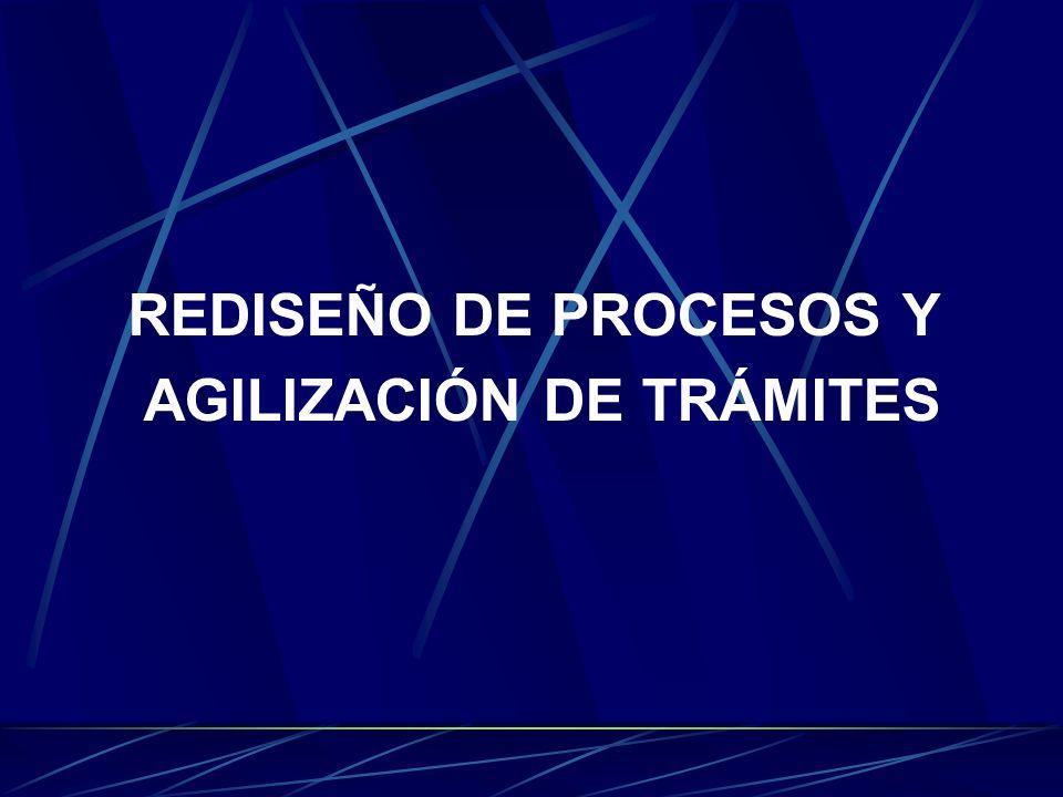 REDISEÑO DE PROCESOS Y AGILIZACIÓN DE TRÁMITES