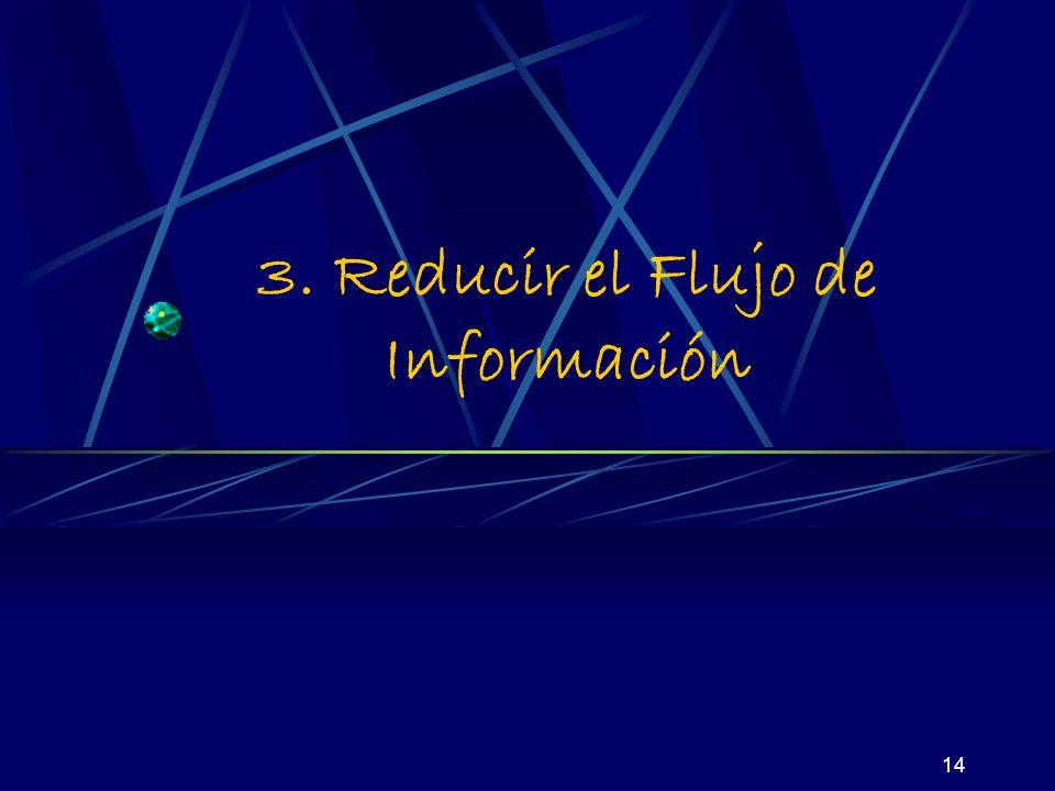 14 3. Reducir el Flujo de Información