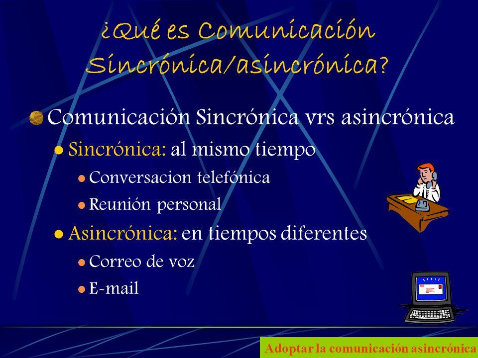 4 ¿Qué es Comunicación Sincrónica/asincrónica.