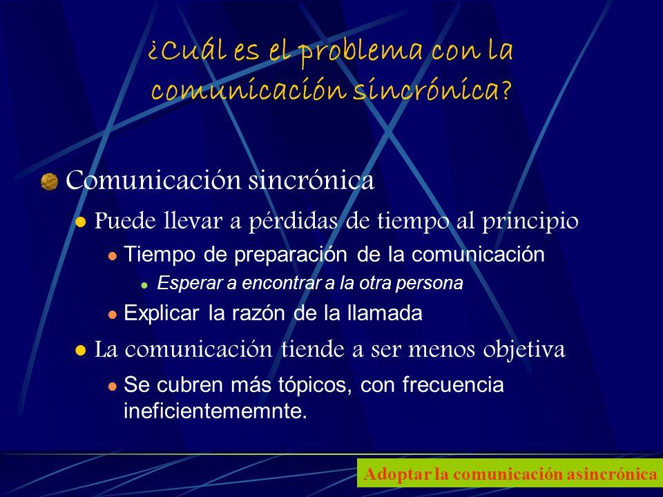 5 ¿Cuál es el problema con la comunicación sincrónica.
