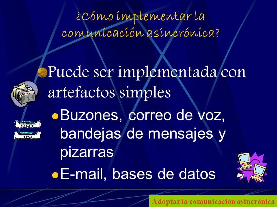 6 ¿Cómo implementar la comunicación asincrónica.