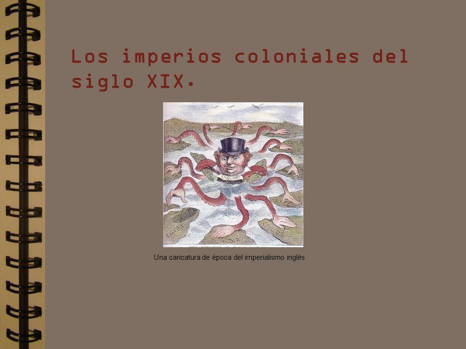 Los imperios coloniales del siglo XIX. Una caricatura de época del imperialismo inglés