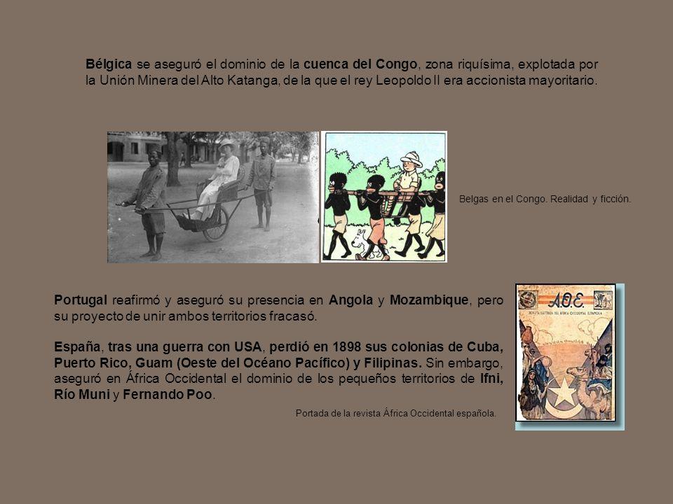 Portugal reafirmó y aseguró su presencia en Angola y Mozambique, pero su proyecto de unir ambos territorios fracasó. España, tras una guerra con USA,