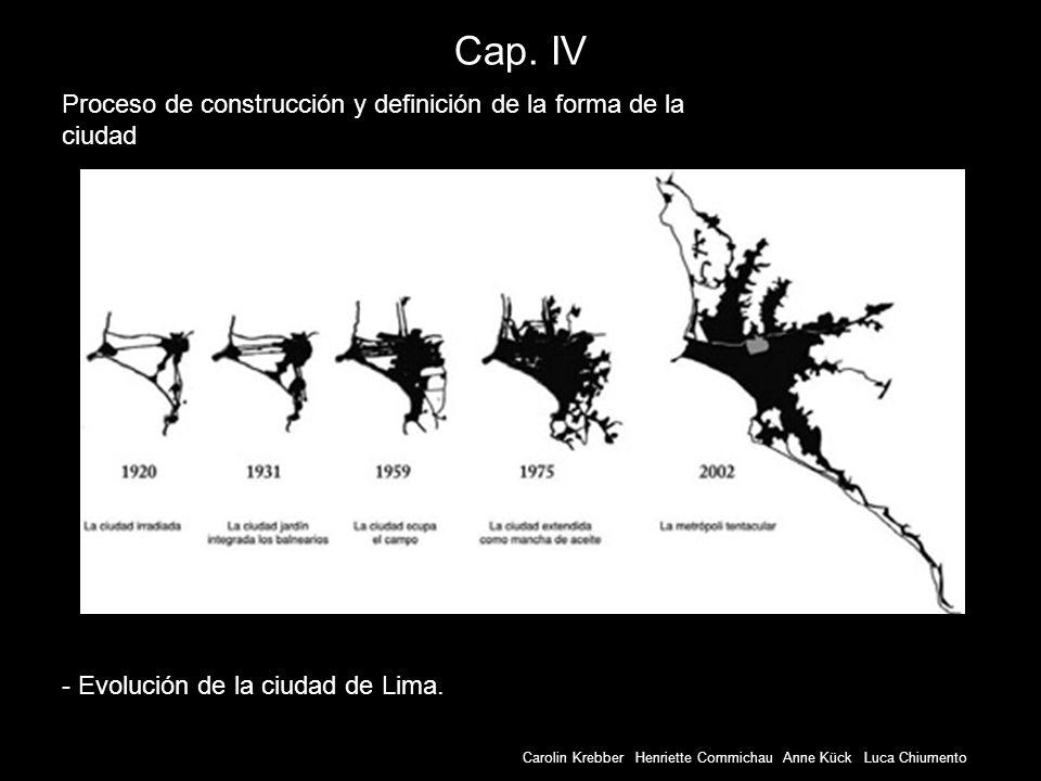 Carolin Krebber Henriette Commichau Anne Kück Luca Chiumento Cap. IV - Evolución de la ciudad de Lima. Proceso de construcción y definición de la form