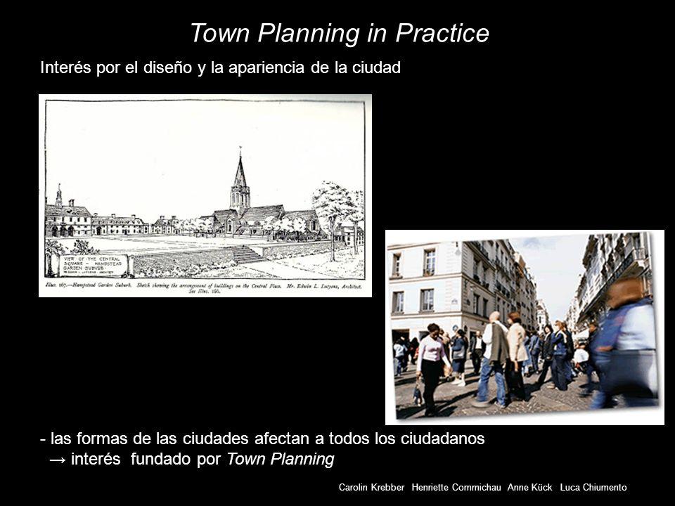 Carolin Krebber Henriette Commichau Anne Kück Luca Chiumento Town Planning in Practice - las formas de las ciudades afectan a todos los ciudadanos int