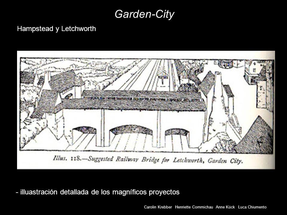 Carolin Krebber Henriette Commichau Anne Kück Luca Chiumento Garden-City - illuastración detallada de los magníficos proyectos Hampstead y Letchworth