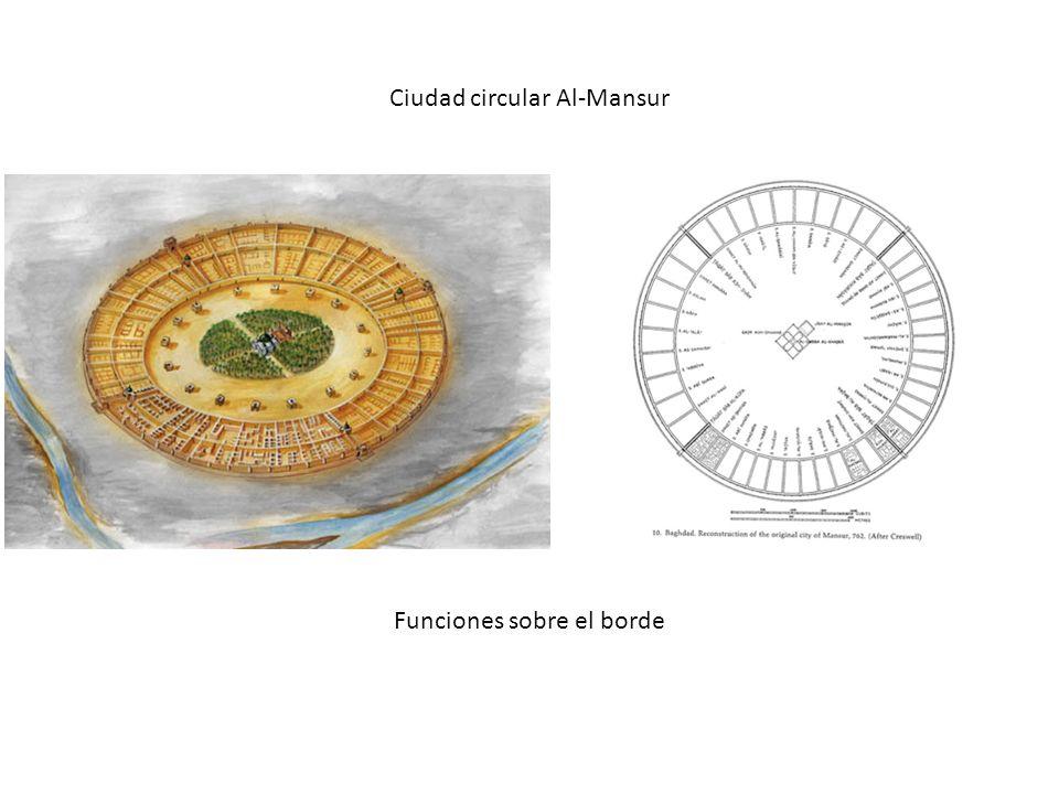 Ciudad circular Al-Mansur Funciones sobre el borde