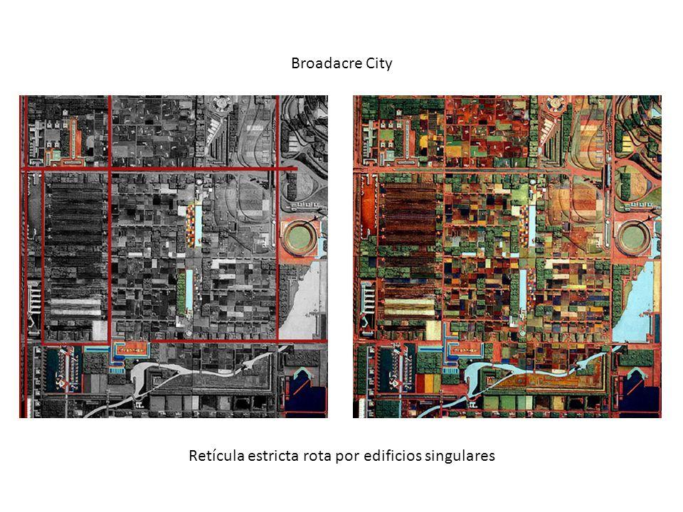 Retícula estricta rota por edificios singulares