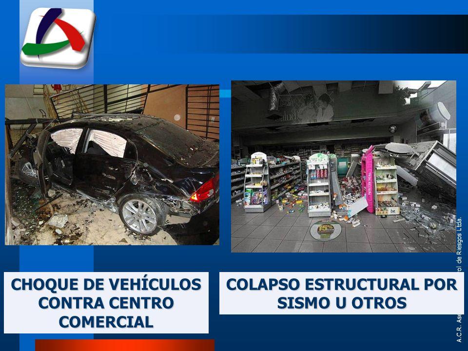 CHOQUE DE VEHÍCULOS CONTRA CENTRO COMERCIAL COLAPSO ESTRUCTURAL POR SISMO U OTROS