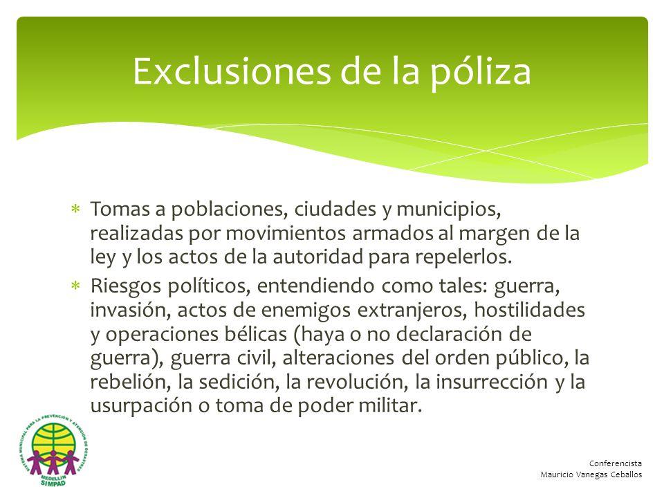 Conferencista Mauricio Vanegas Ceballos Tomas a poblaciones, ciudades y municipios, realizadas por movimientos armados al margen de la ley y los actos