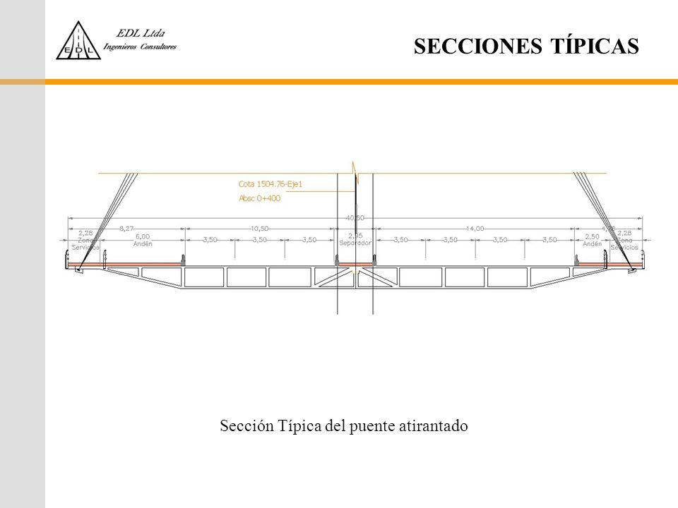 SECCIONES TÍPICAS Sección Típica del puente atirantado