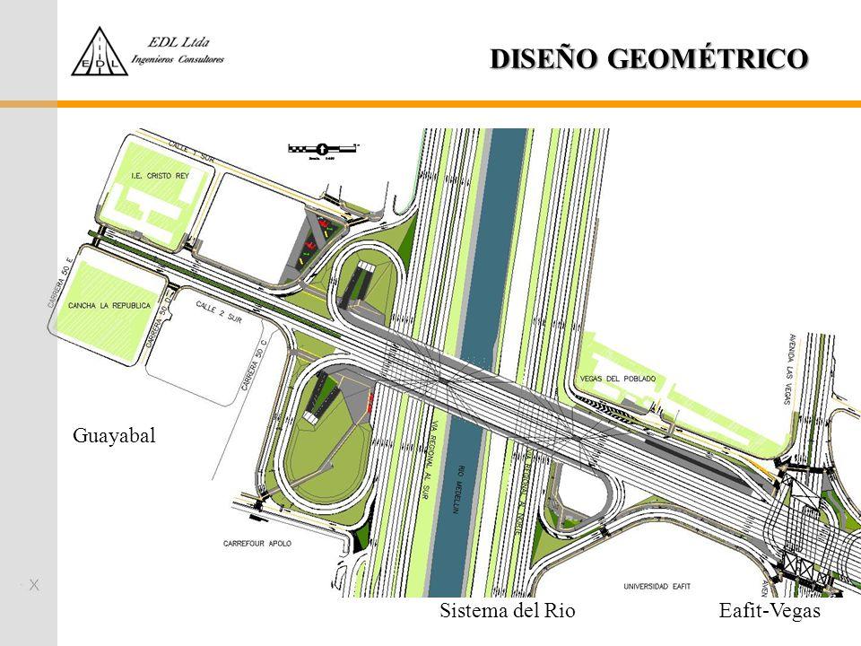 DISEÑO GEOMÉTRICO Guayabal Eafit-VegasSistema del Rio