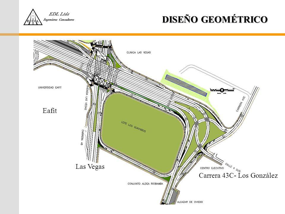 DISEÑO GEOMÉTRICO Carrera 43C- Los González Las Vegas Eafit