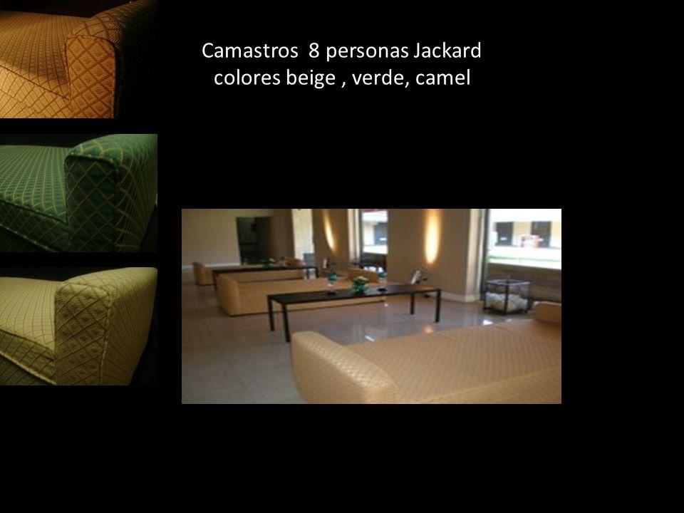 Camastros 8 personas Jackard colores beige, verde, camel