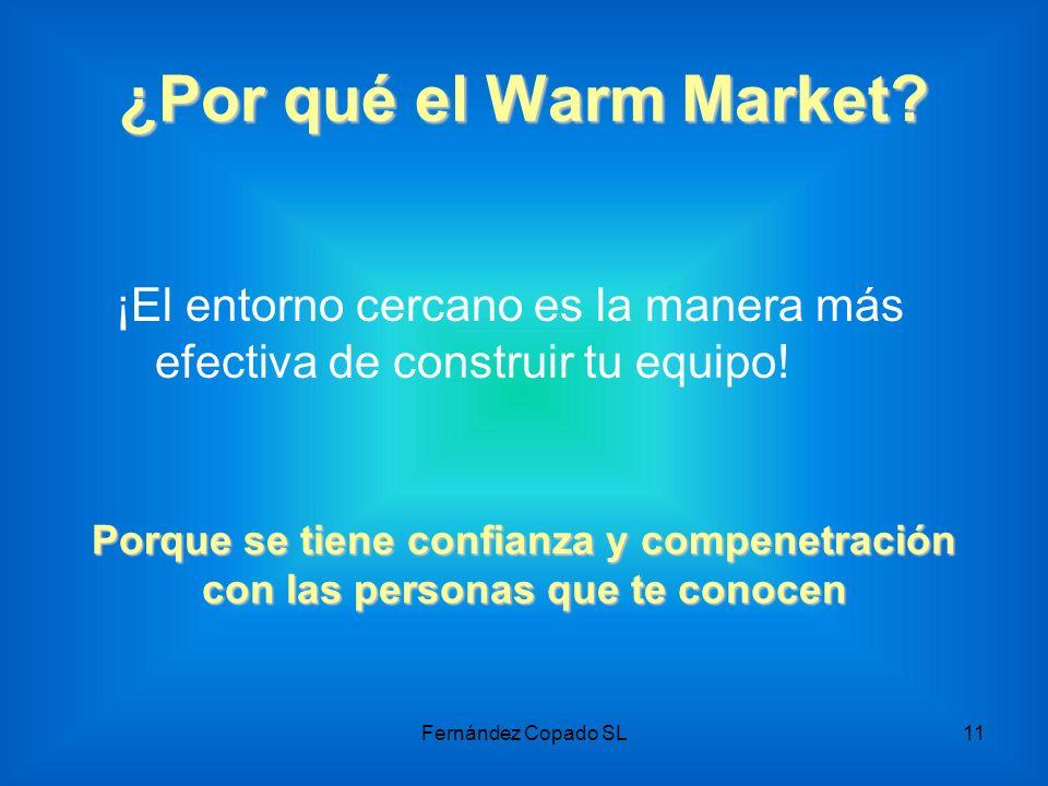 ¿Por qué el Warm Market? ¡El entorno cercano es la manera más efectiva de construir tu equipo! Porque se tiene confianza y compenetración con las pers