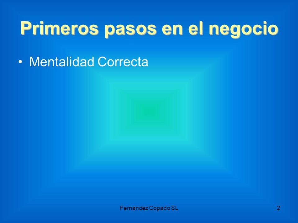 Primeros pasos en el negocio Mentalidad Correcta Fernández Copado SL2
