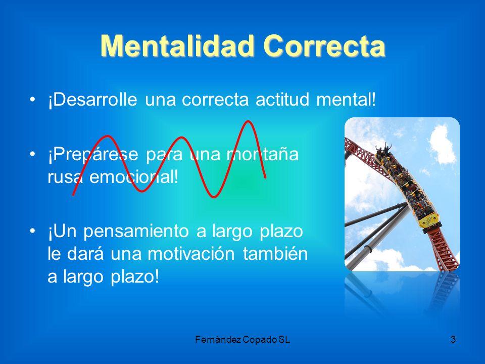 Mentalidad Correcta ¡Desarrolle una correcta actitud mental! ¡Prepárese para una montaña rusa emocional! ¡Un pensamiento a largo plazo le dará una mot