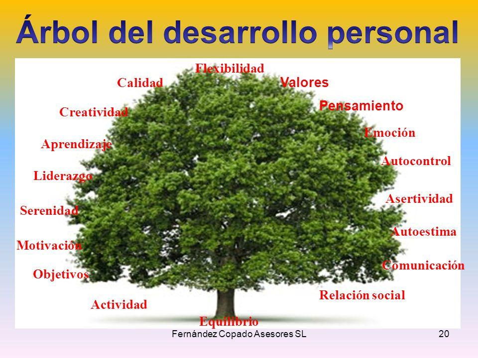 Flexibilidad Valores Pensamiento Emoción Autocontrol Asertividad Autoestima Comunicación Relación social Equilibrio Calidad Creatividad Aprendizaje Li