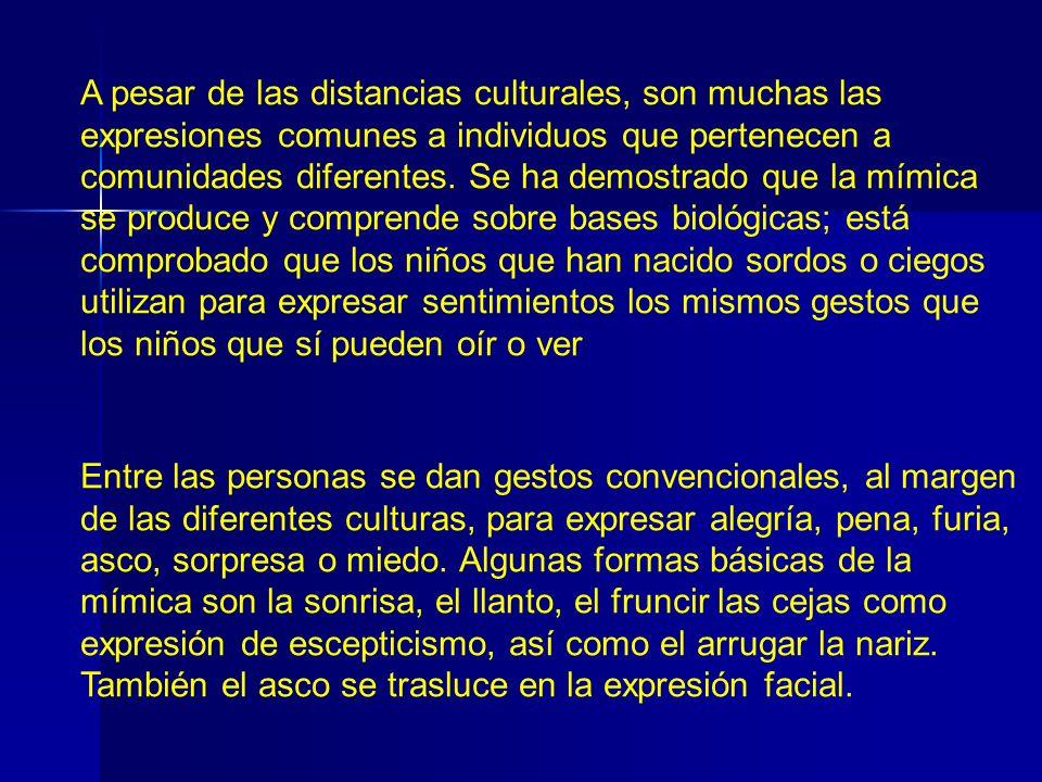 A pesar de las distancias culturales, son muchas las expresiones comunes a individuos que pertenecen a comunidades diferentes. Se ha demostrado que la