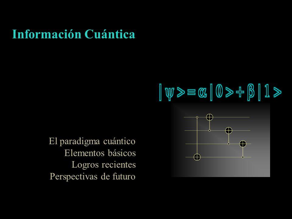 Información Cuántica El paradigma cuántico Elementos básicos Logros recientes Perspectivas de futuro