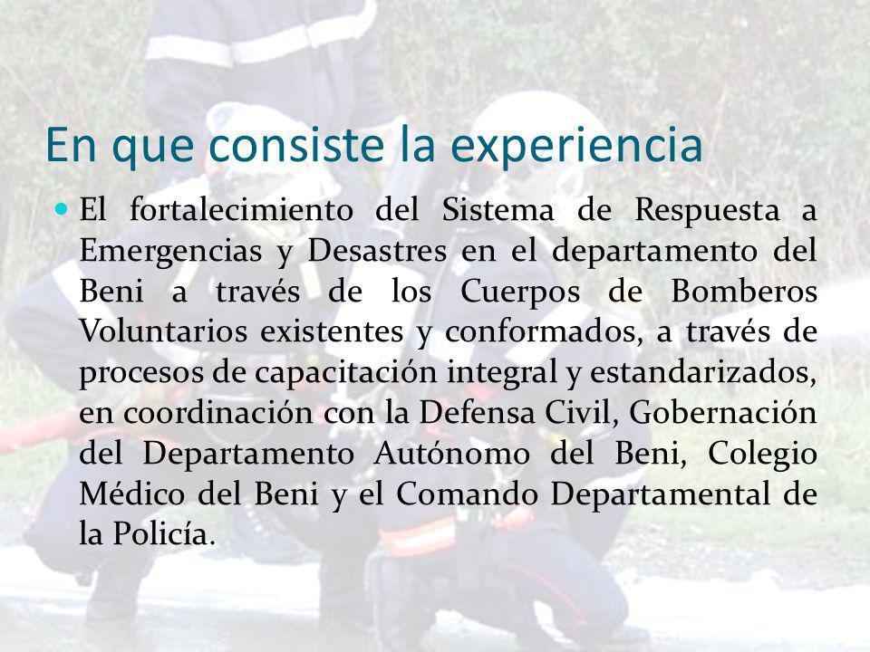 Evaluación acerca de la respuesta a emergencias en el Departamento.
