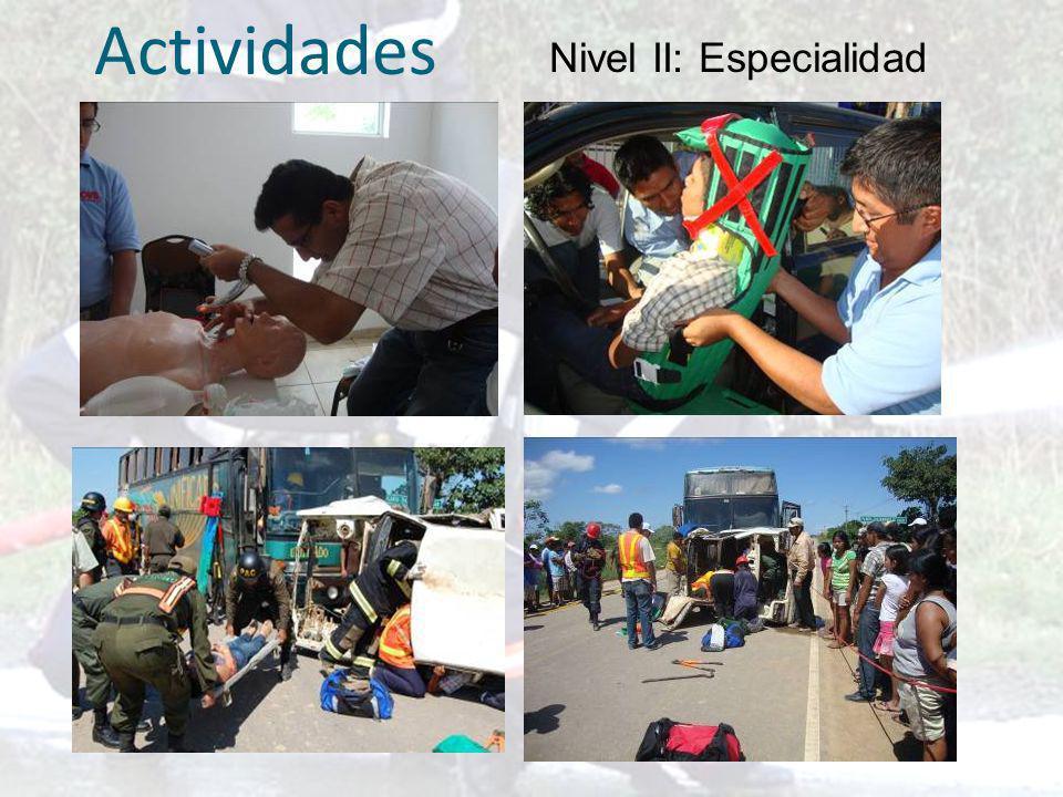 Nivel III: instructores nivel básico Actividades