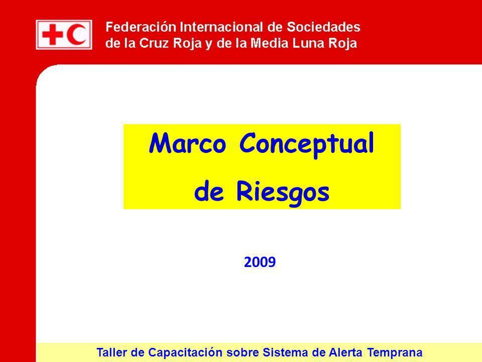 Taller de Capacitación sobre Sistema de Alerta Temprana 2009 Marco Conceptual de Riesgos
