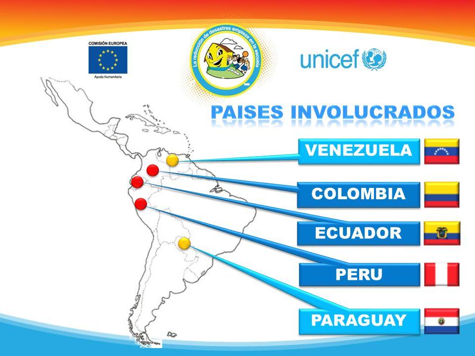 PARAGUAY PERU COLOMBIA VENEZUELA ECUADOR