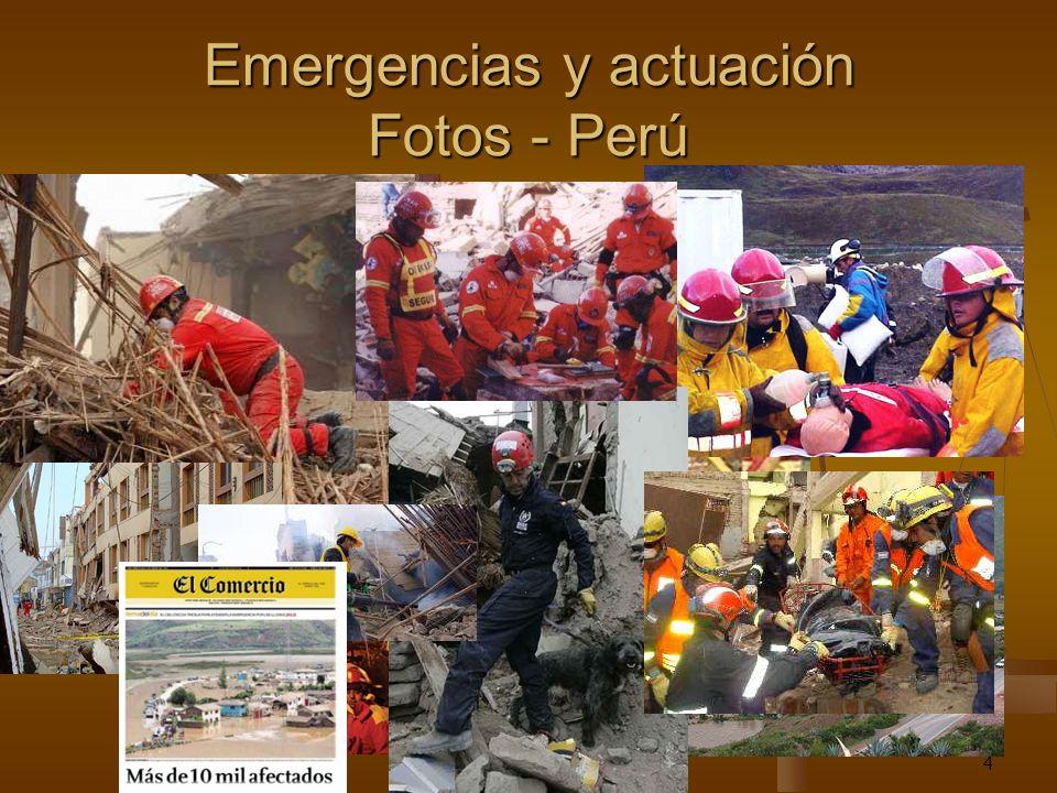 4 Emergencias y actuación Fotos - Perú