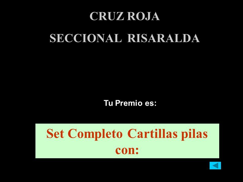 Tu Premio es: CRUZ ROJA SECCIONAL RISARALDA Set Completo Cartillas pilas con: