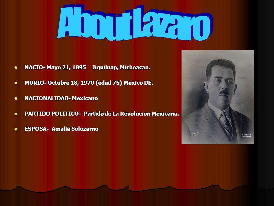 NACIO- Mayo 21, 1895 Jiquilnap, Michoacan. MURIO- Octubre 18, 1970 (edad 75) Mexico DE.
