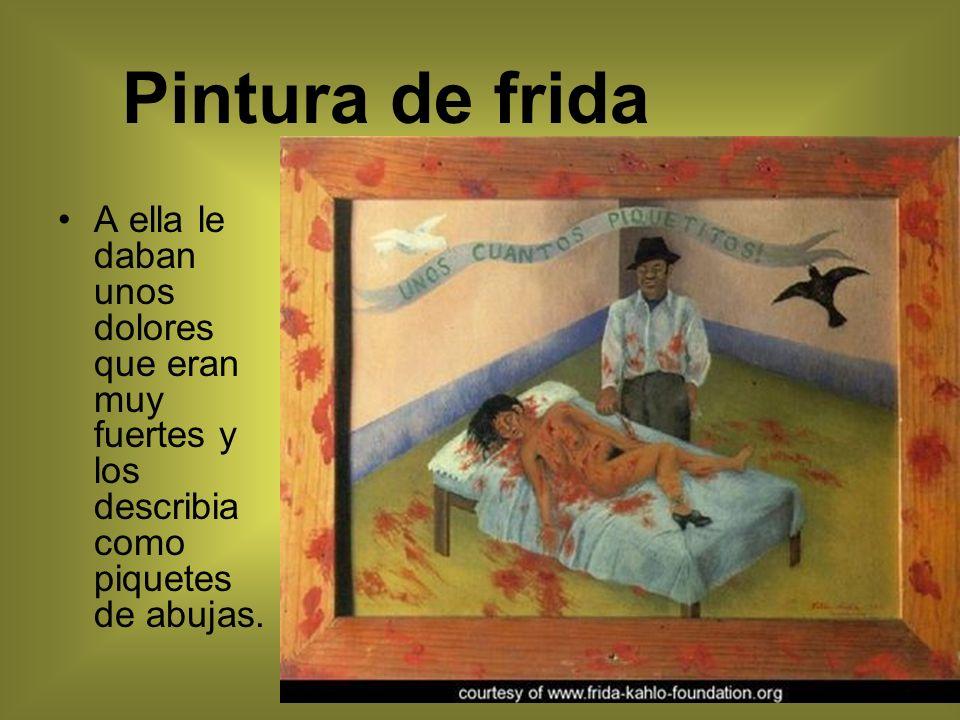 Su Publico La arte de ella era para todo tipo de personas pero la razon principal por la que Frida empezo a pintar, era para demostrar todo el dolor y coraje que ella tenia por dentro por quedarse invalida por un ano en la cama.