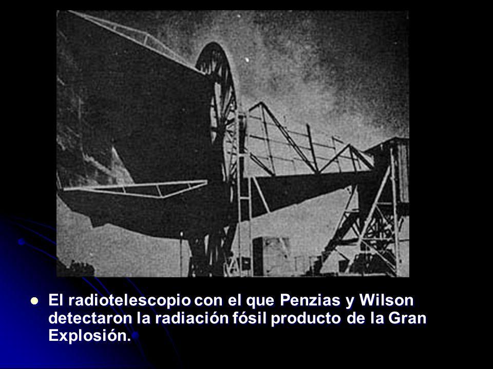 El radiotelescopio con el que Penzias y Wilson detectaron la radiación fósil producto de la Gran Explosión. El radiotelescopio con el que Penzias y Wi