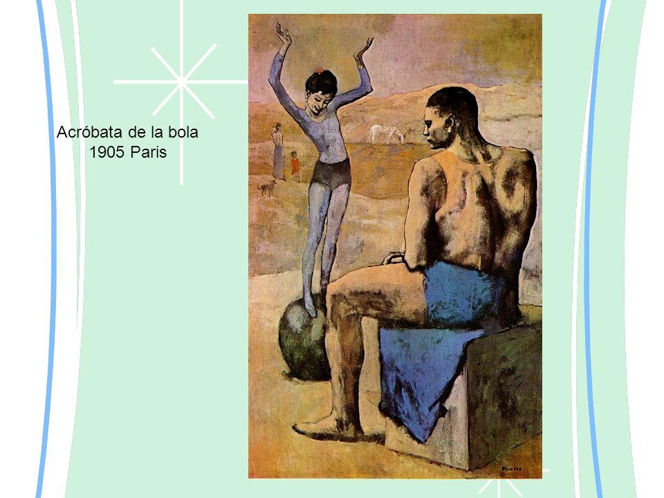 Acróbata de la bola 1905 Paris