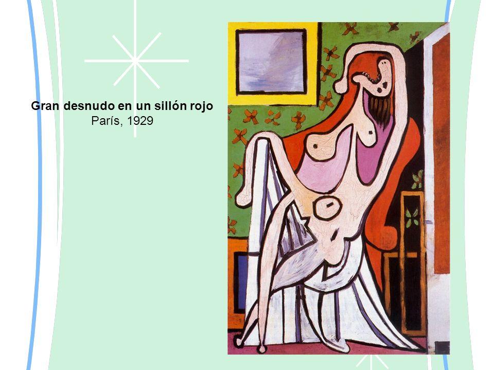 Gran desnudo en un sillón rojo París, 1929