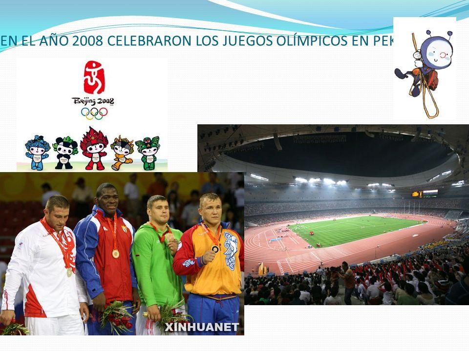 EN EL AÑO 2008 CELEBRARON LOS JUEGOS OLÍMPICOS EN PEKÍN
