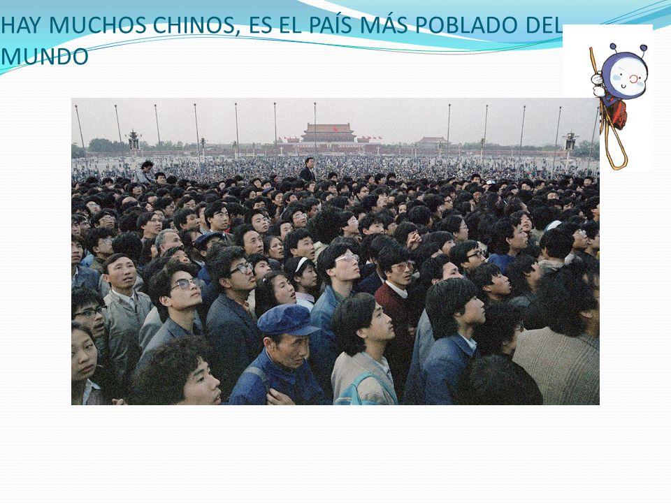 HAY MUCHOS CHINOS, ES EL PAÍS MÁS POBLADO DEL MUNDO