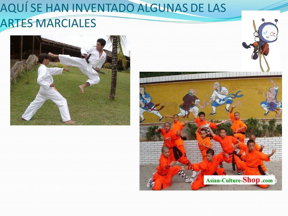 AQUÍ SE HAN INVENTADO ALGUNAS DE LAS ARTES MARCIALES