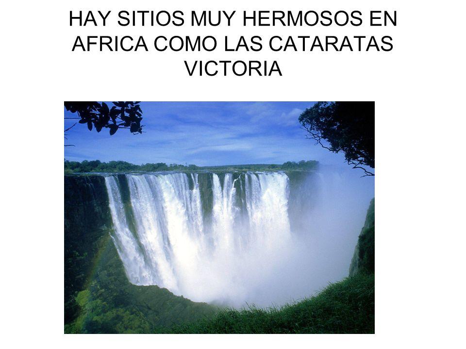 HAY SITIOS MUY HERMOSOS EN AFRICA COMO LAS CATARATAS VICTORIA