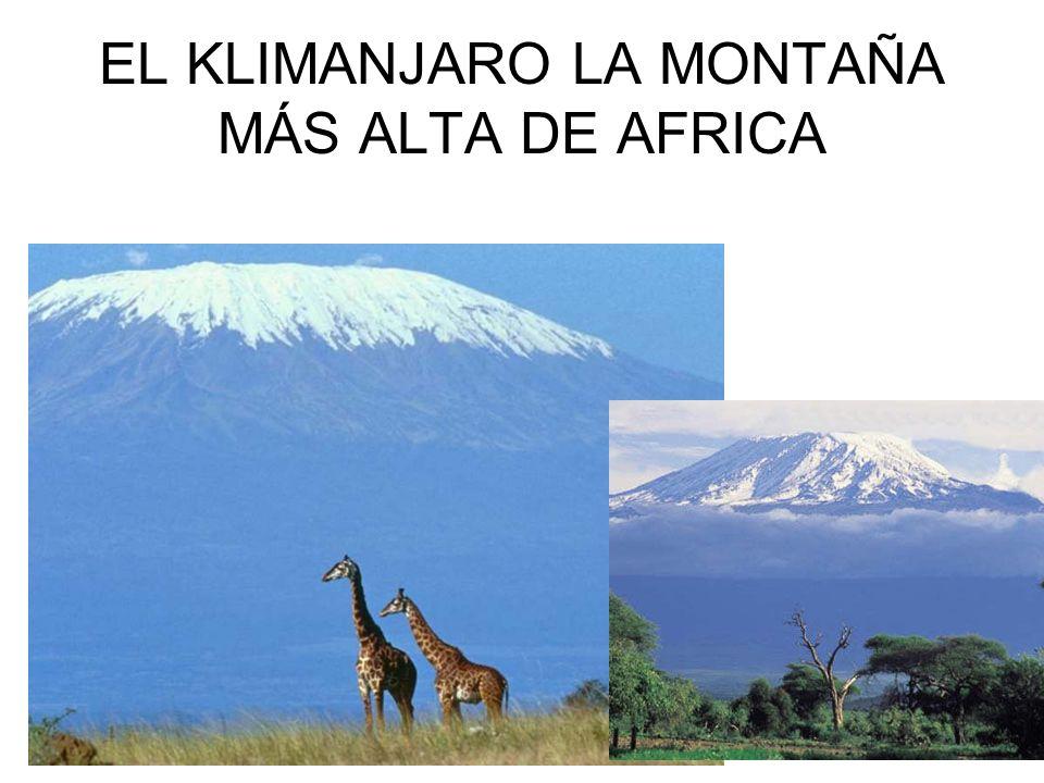 EL KLIMANJARO LA MONTAÑA MÁS ALTA DE AFRICA